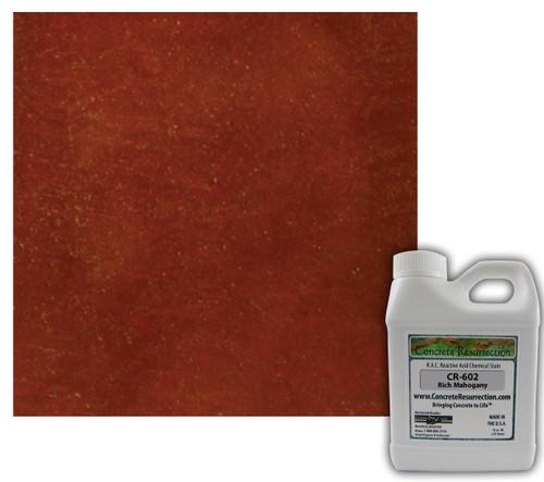 Reactive Acid Chemical (RAC) Concrete Stain - Rich Mahogany 16oz