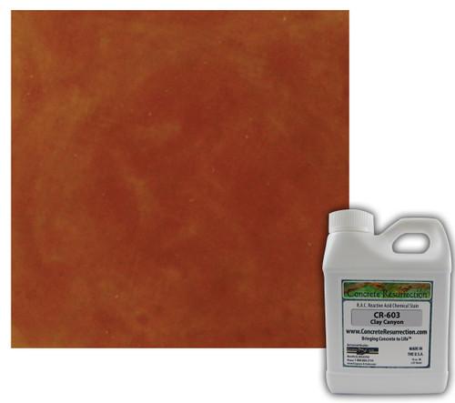 Reactive Acid Chemical (RAC) Concrete Stain - Clay Canyon 16oz