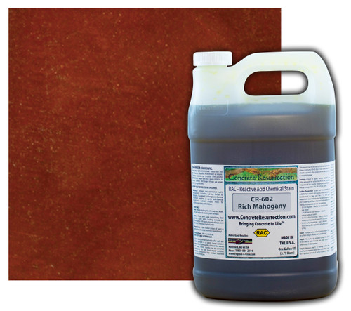 Reactive Acid Chemical (RAC) Concrete Stain - Rich Mahogany 1 Gal.