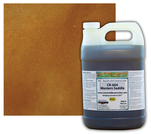 Reactive Acid Chemical (RAC) Concrete Stain - Western Saddle 1 Gal.