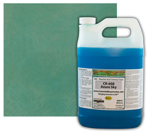 Reactive Acid Chemical (RAC) Concrete Stain - Azure Sky (Interior Only) 1 Gal.