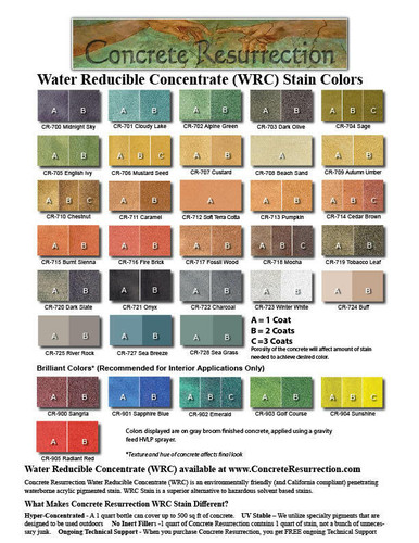 Water Reducible Concentrated (WRC) Concrete Stain - Sea Grass 8oz