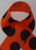 Orange / Black Large Polka Dots