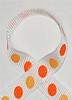 Glitter Polka Dot Ribbon Tangerine / Melon