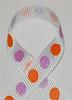 Glitter Polka Dot Ribbon Tangerine / Lt. Orchid