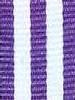 Lavender with White Stripe Ribbon