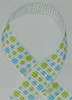 Dizzy Dots Lime/Turquoise Grosgrain Ribbon