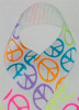 Neon Peace Grosgrain Ribbon