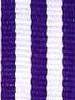 Purple with White Stripe Ribbon