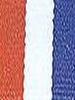Red, White and Royal Preppy Stripe Ribbon
