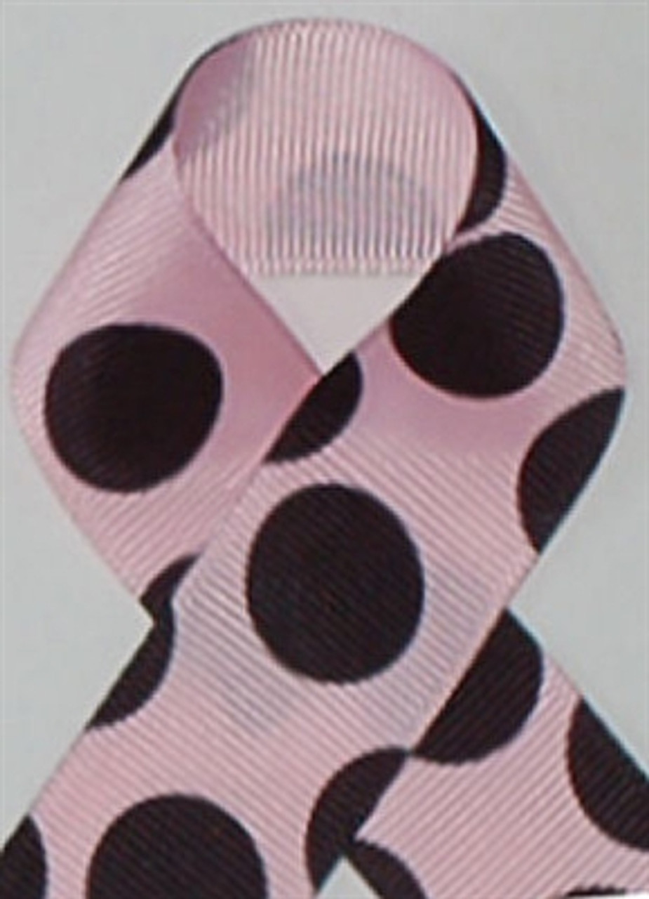 Light Pink and Black Large Polka Dots