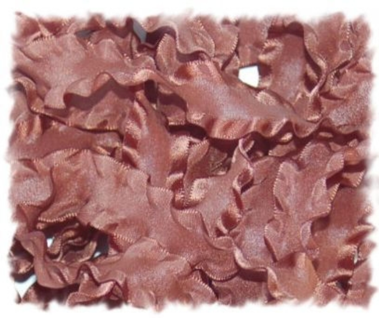 Brown Double Ruffle Ribbon