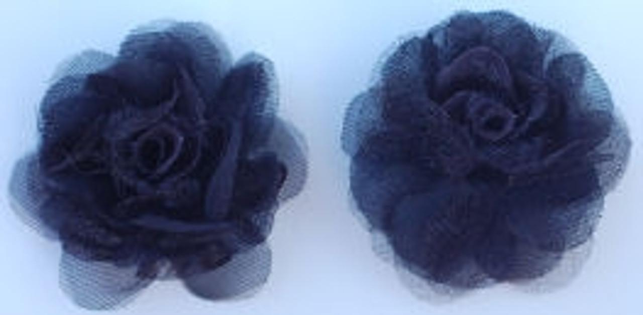 Rose Silk Flowers - Black