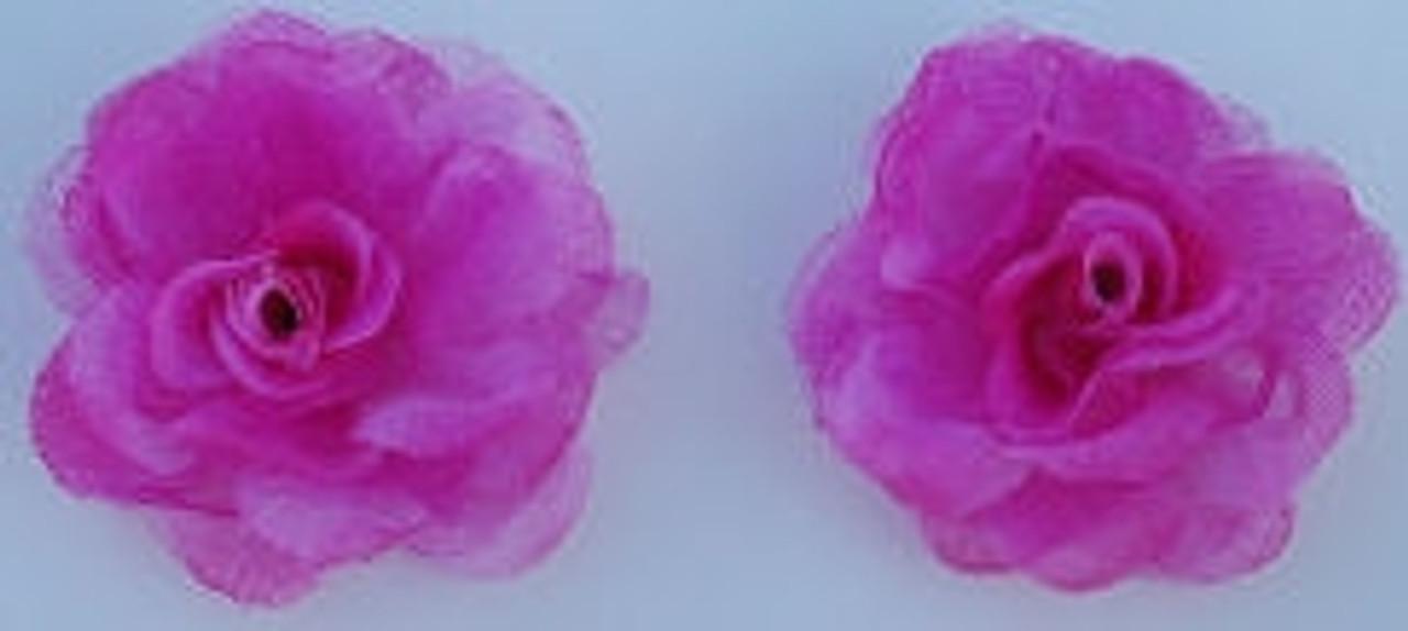 Rose Silk Flowers - Hot Pink