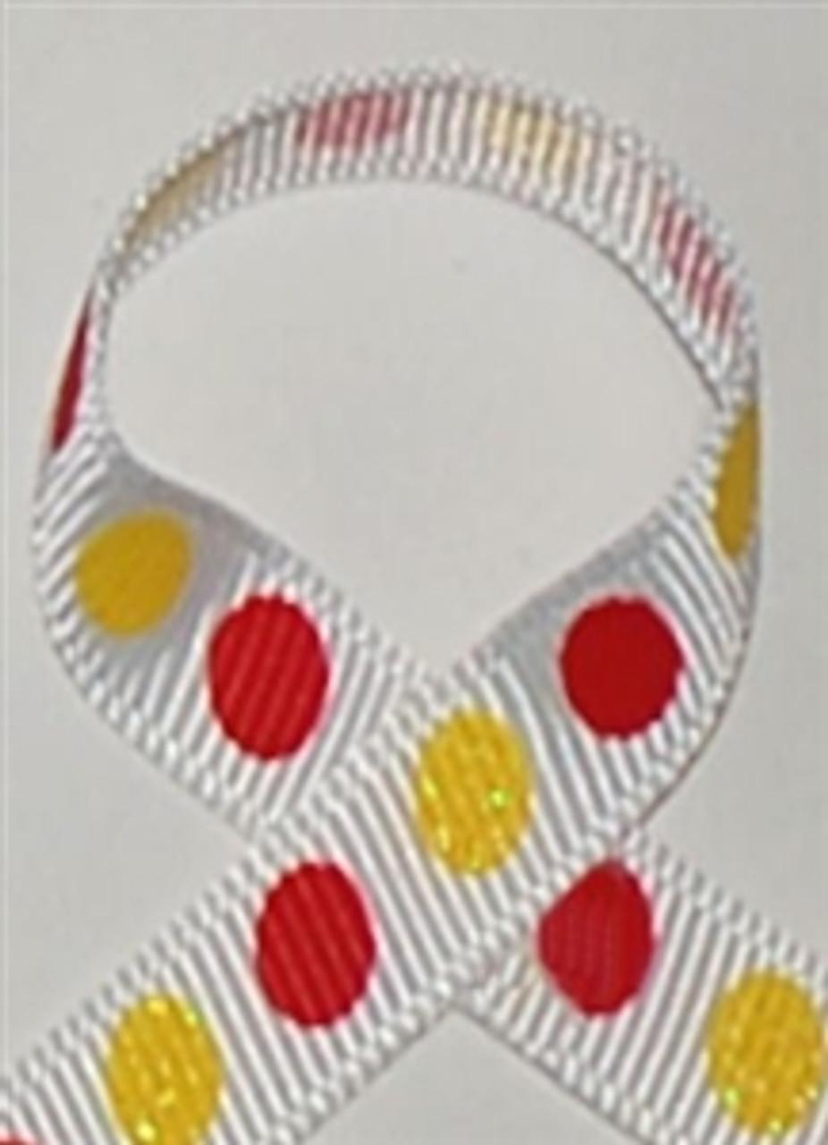 Glitter Polka Dots Red / Daffodil