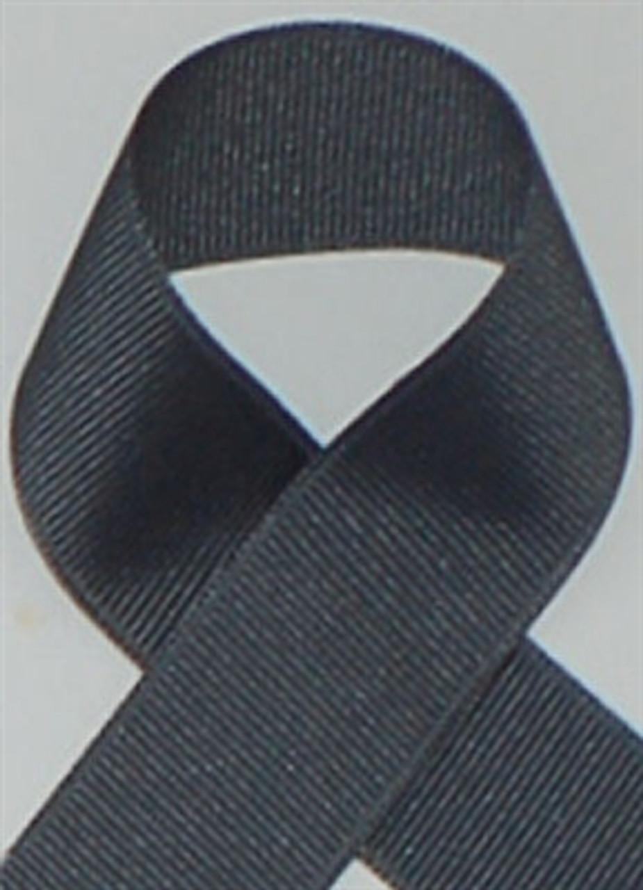 Schiff Flannel Grey Grosgrain Ribbon