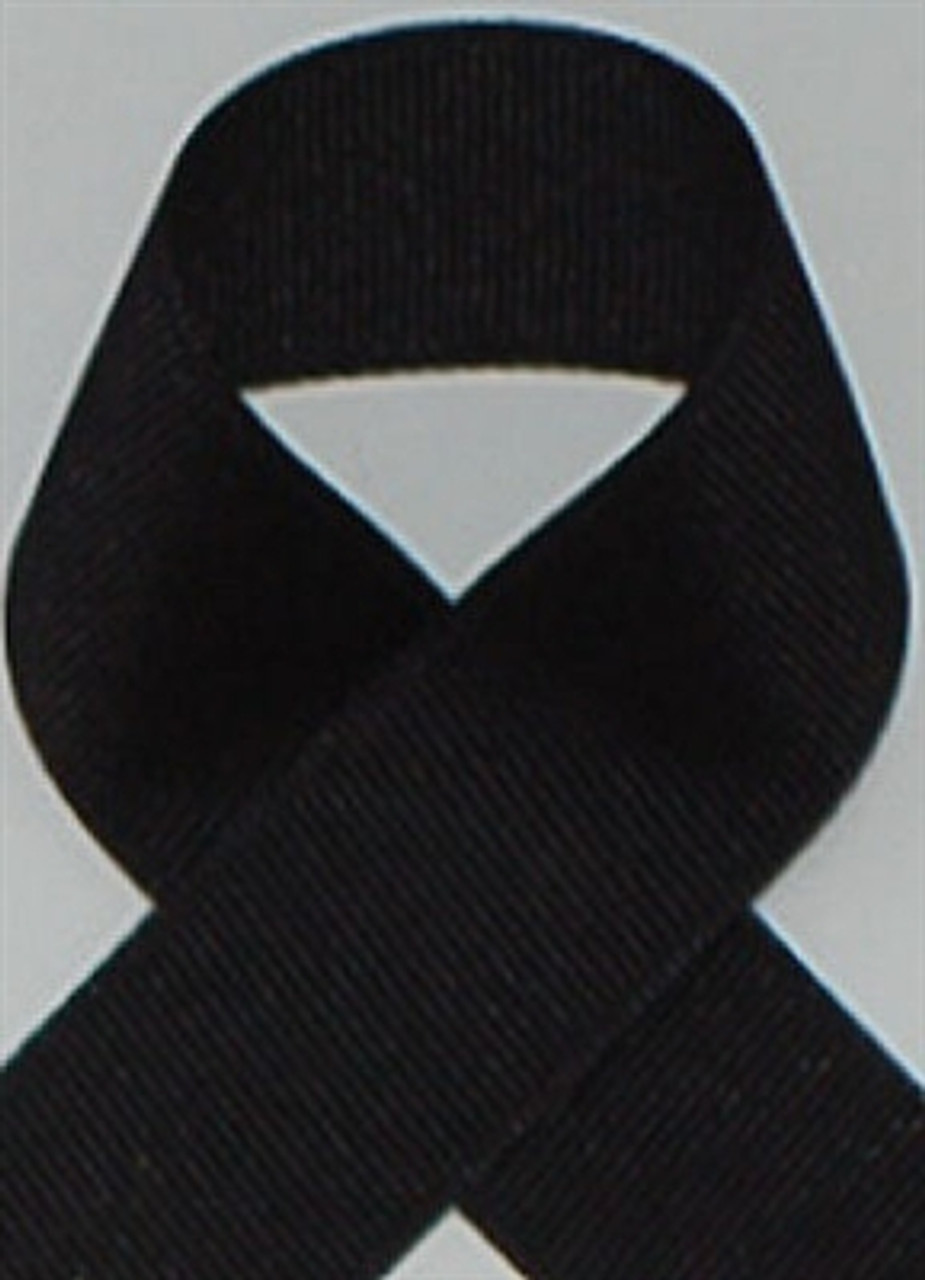 Black Schiff Grosgrain Ribbon, available in 100 yard rolls sold at wholesale prices.
