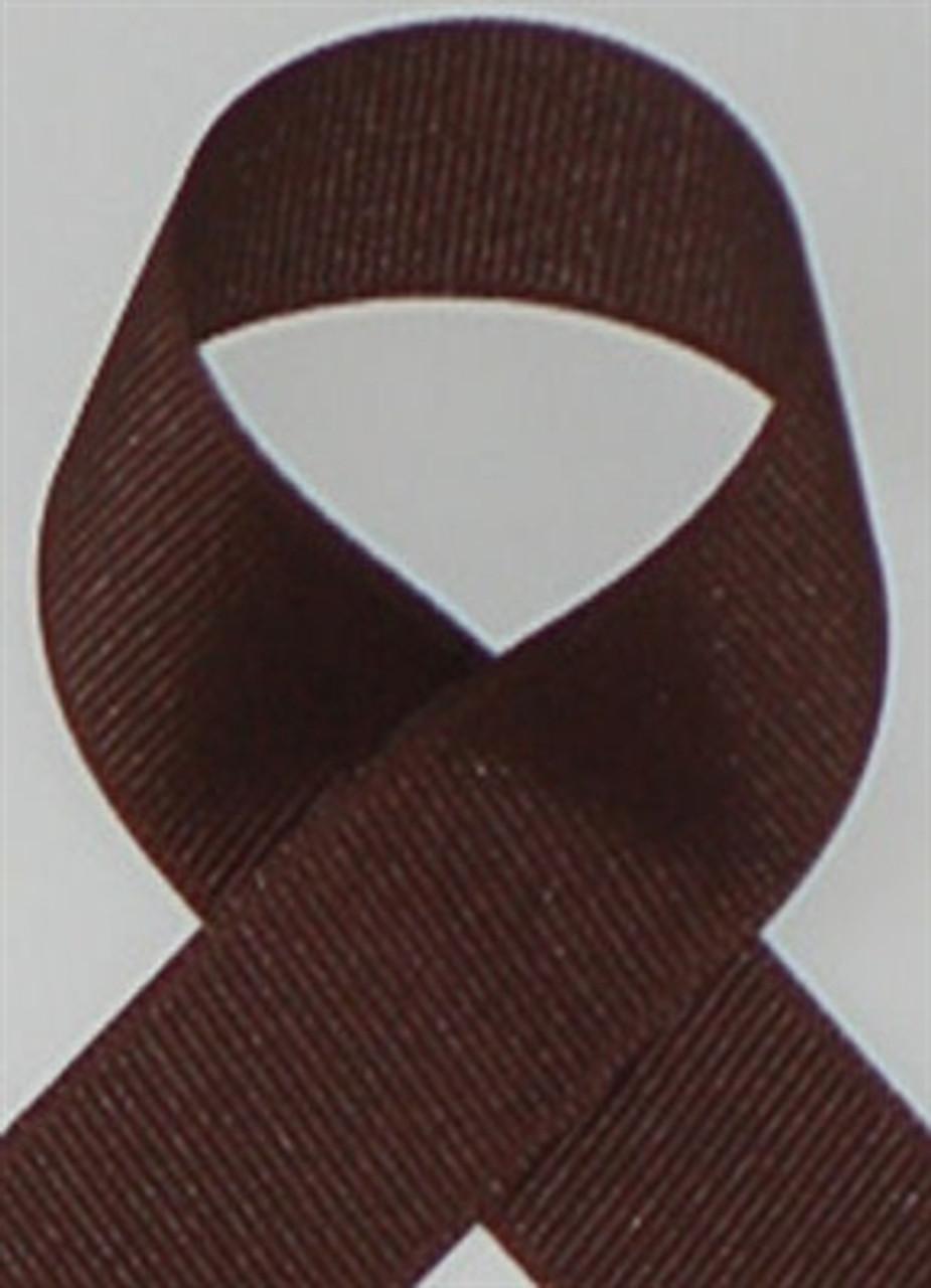 Brown Grosgrain Ribbon . Brown Schiff Grosgrain Ribbons Made In The USA.