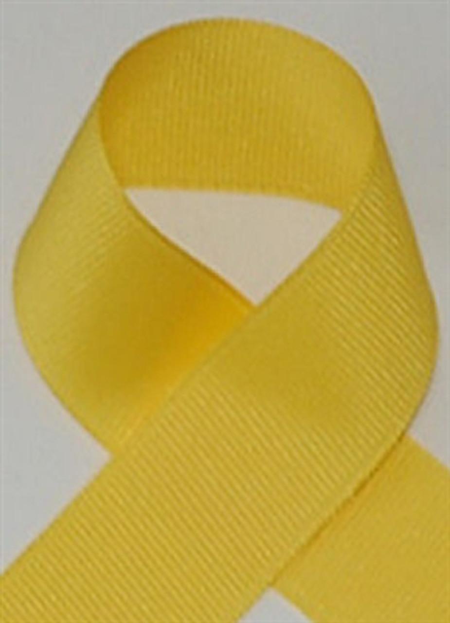 Yellow Grosgrain Ribbon . Yellow Schiff Grosgrain Ribbons Made In The USA.
