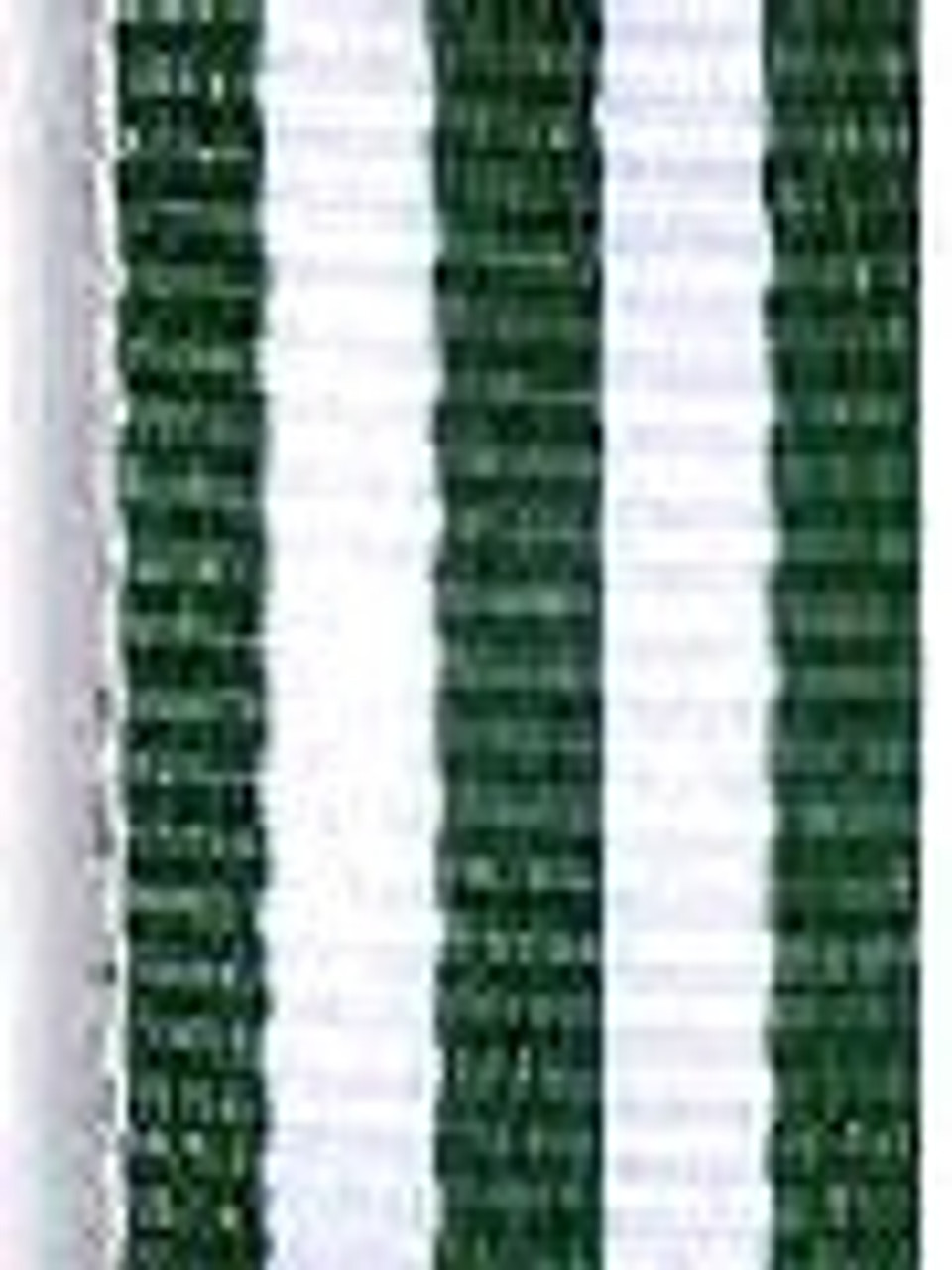 Hunter Green with White Stripe Ribbon