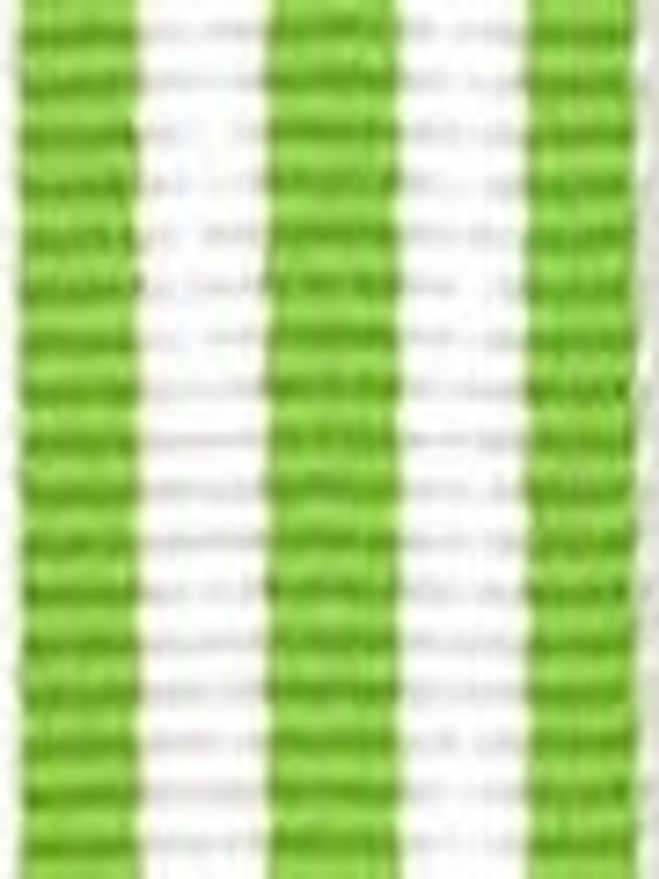 Lime with White Stripe Ribbon