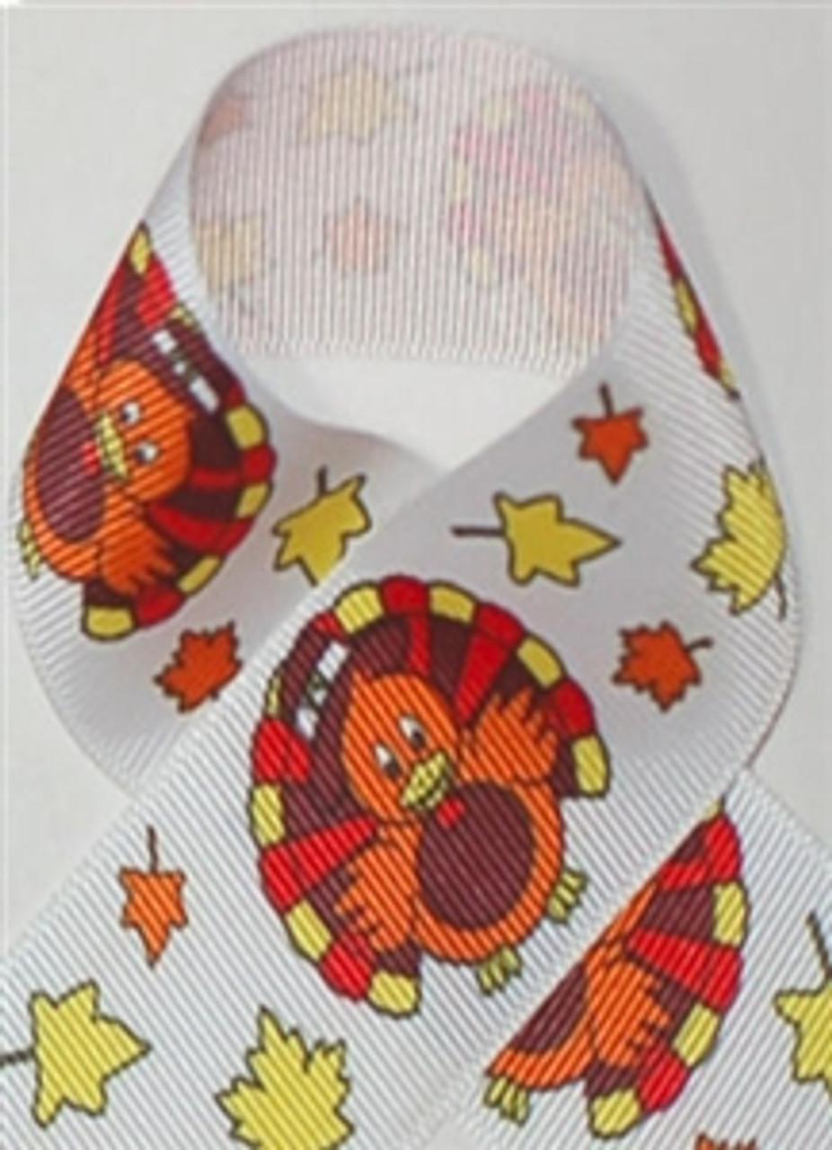 Thanksgiving Turkey Printed Ribbon
