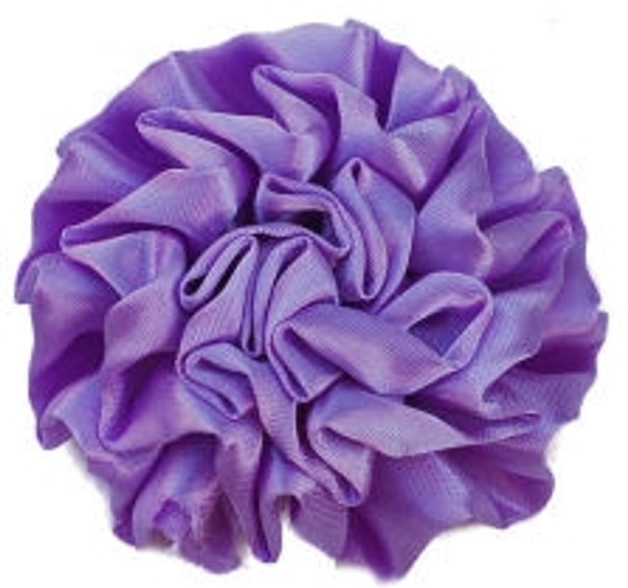 Satin flowers -Purple