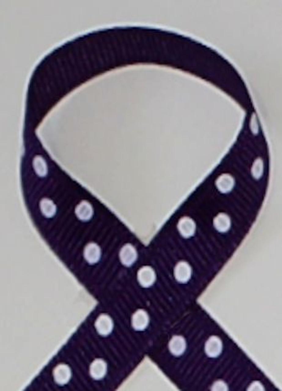 Purple polka dot ribbon for hair bows