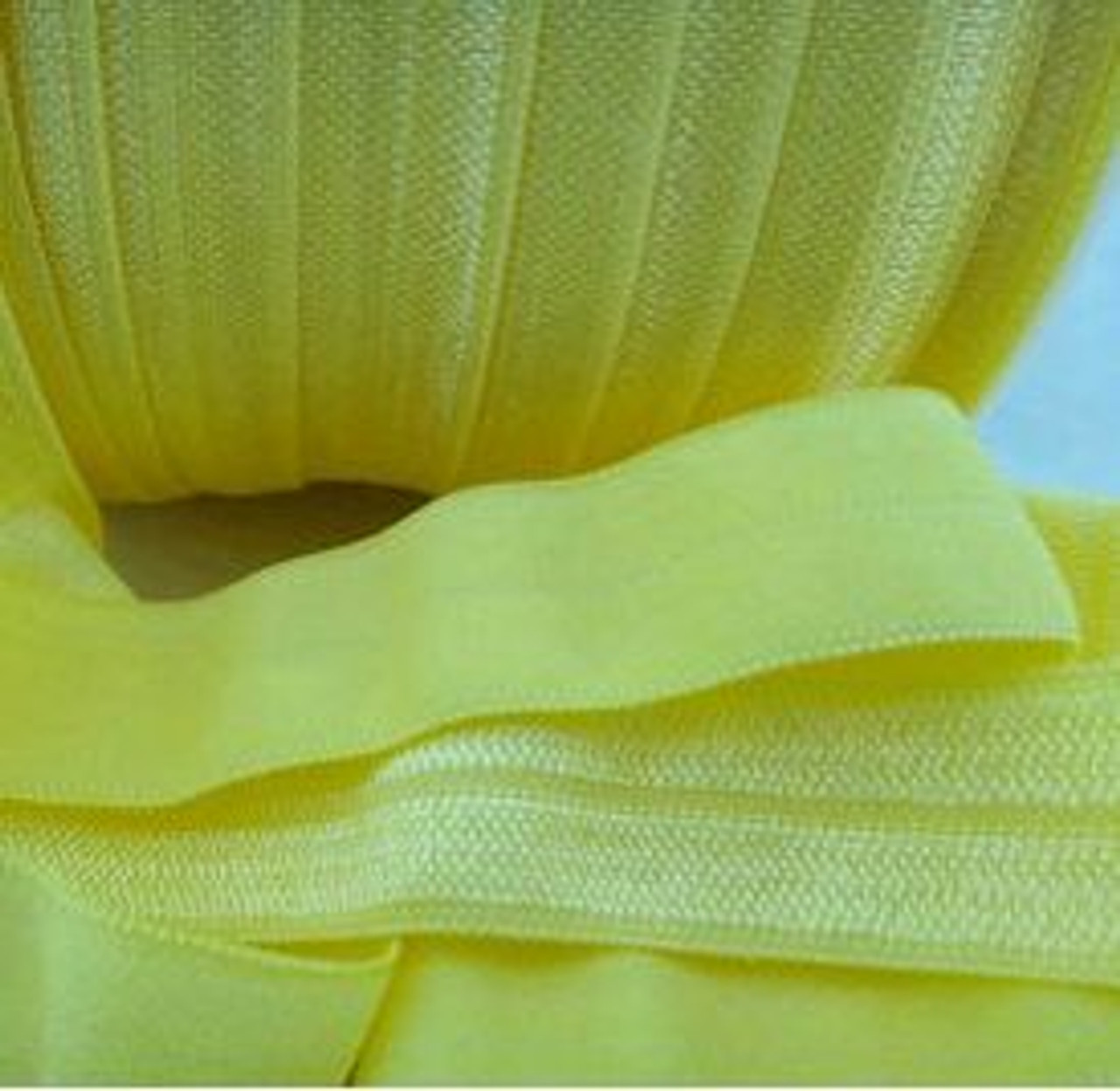 Yellow Fold Over Elastic Ribbon