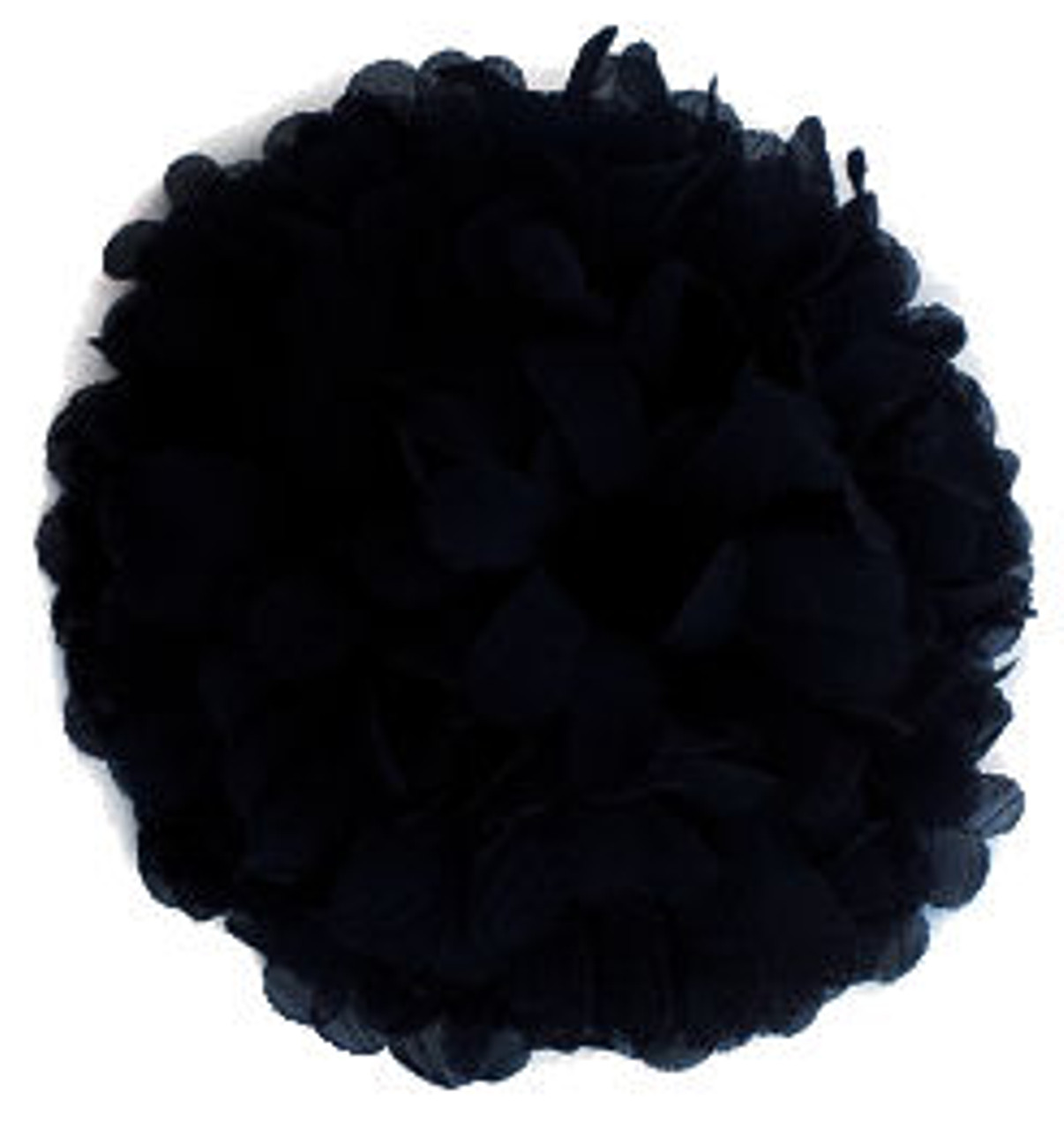 Black Chiffon Fabric Flowers