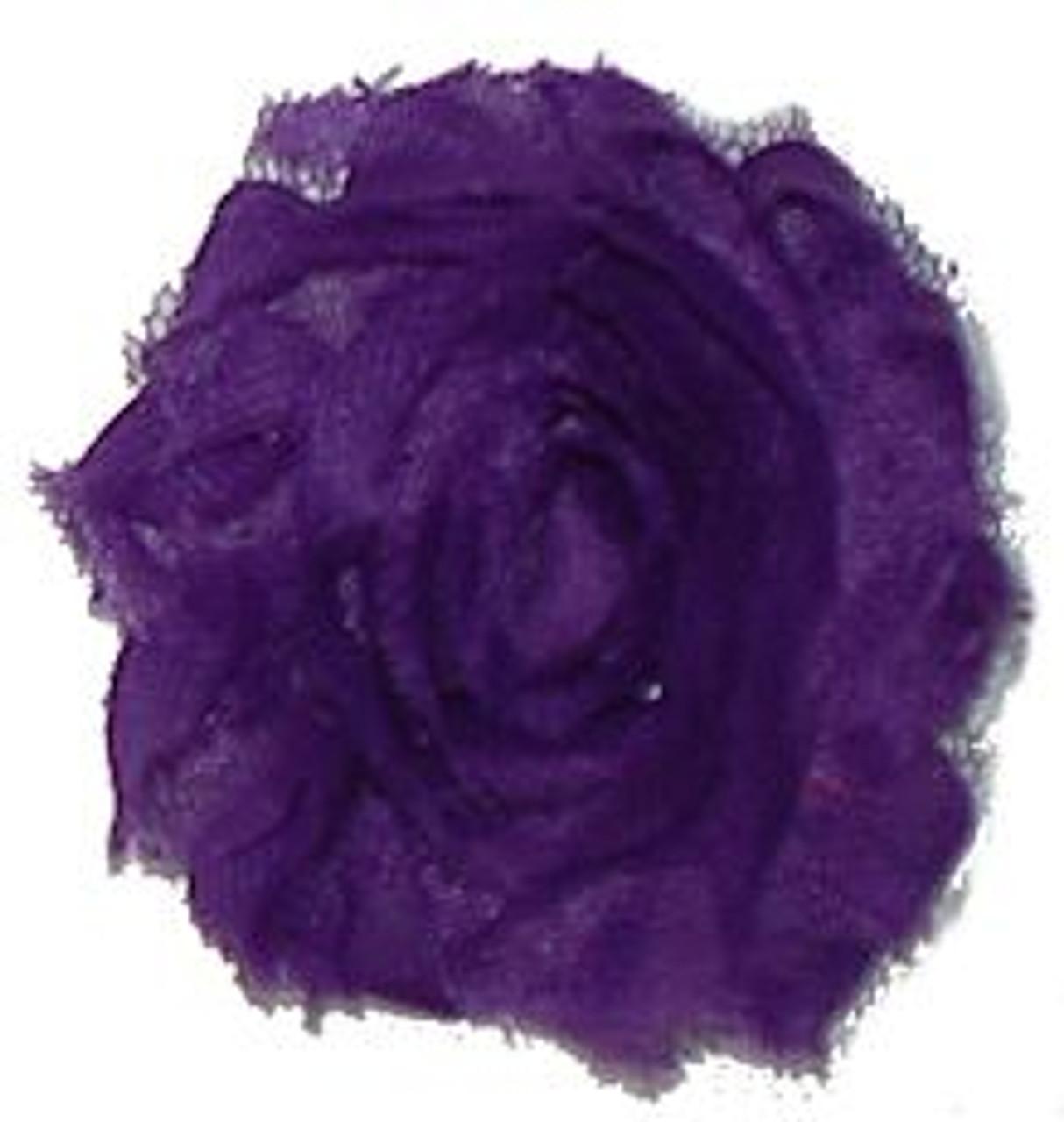 Purple shabby chiffon flowers for headbands and crafts