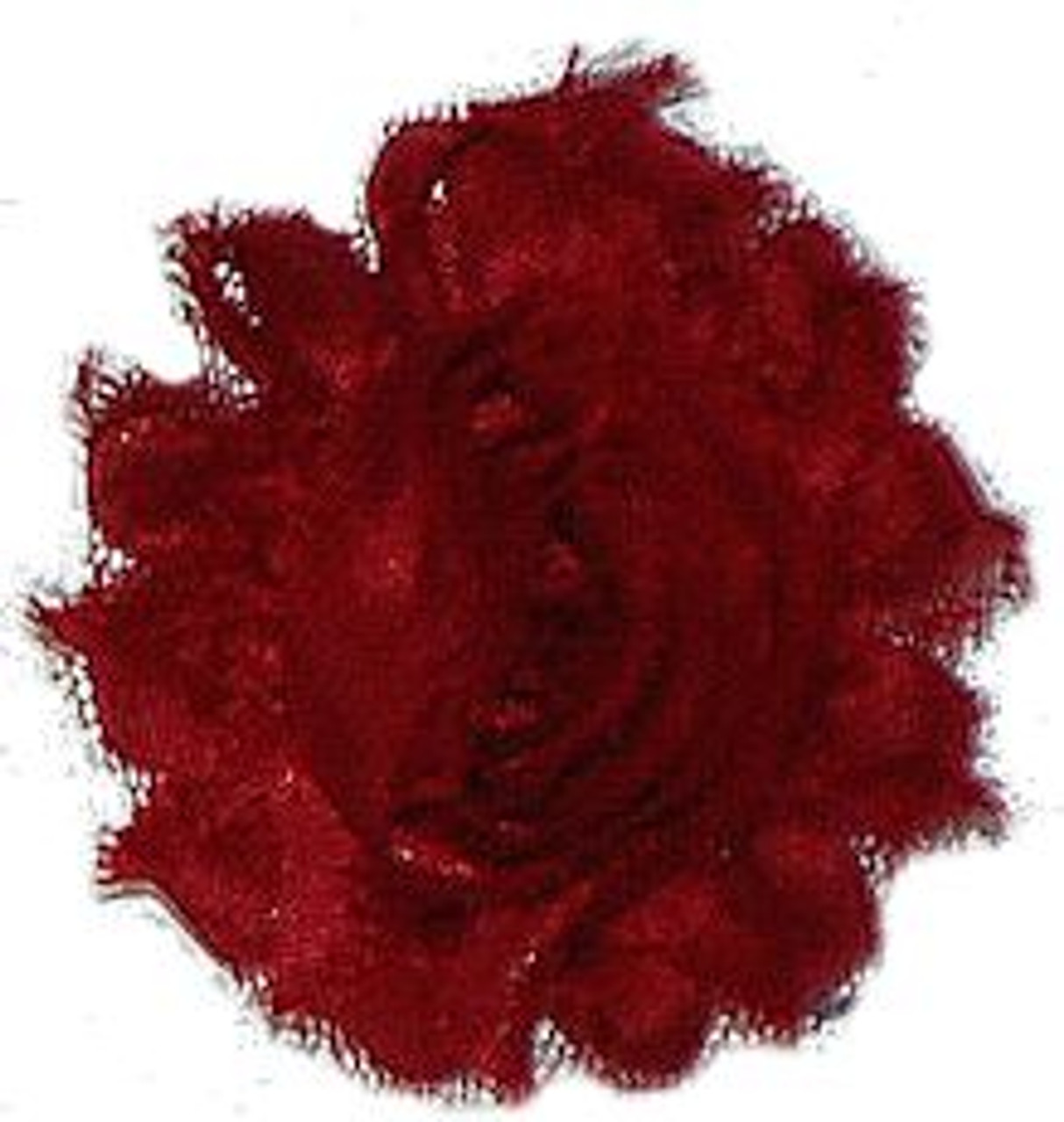 Wine shabby chiffon flowers for headbands and crafts
