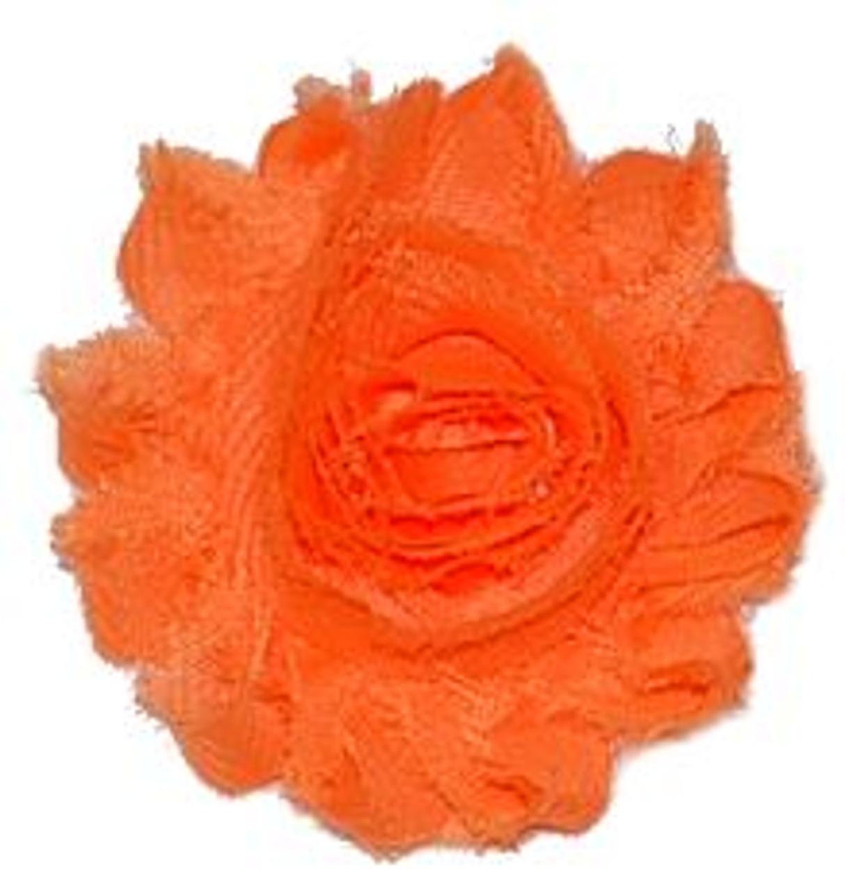 Neon Orange Shabby Chiffon Flowers