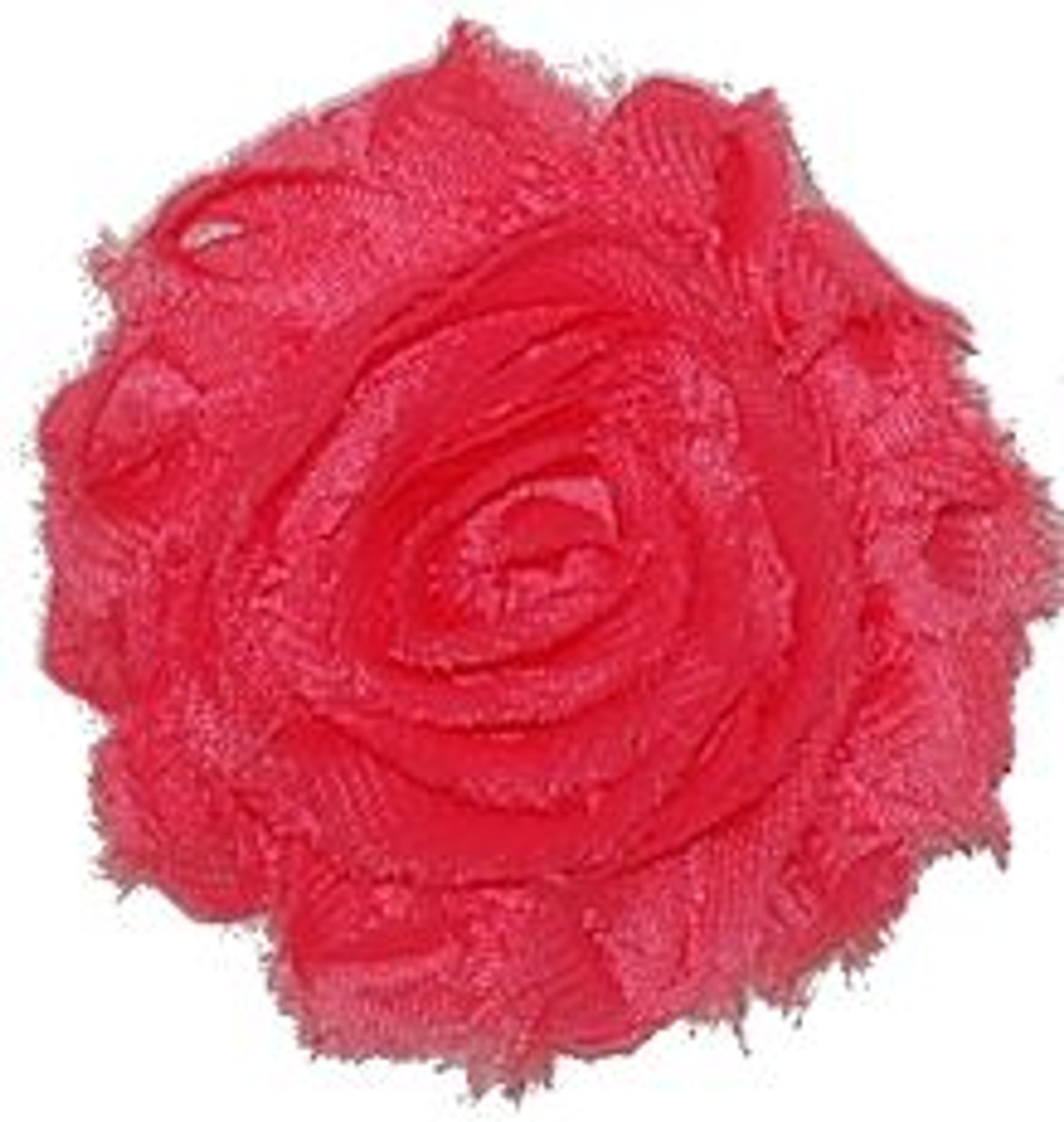 Neon Pink Shabby Chiffon Flowers