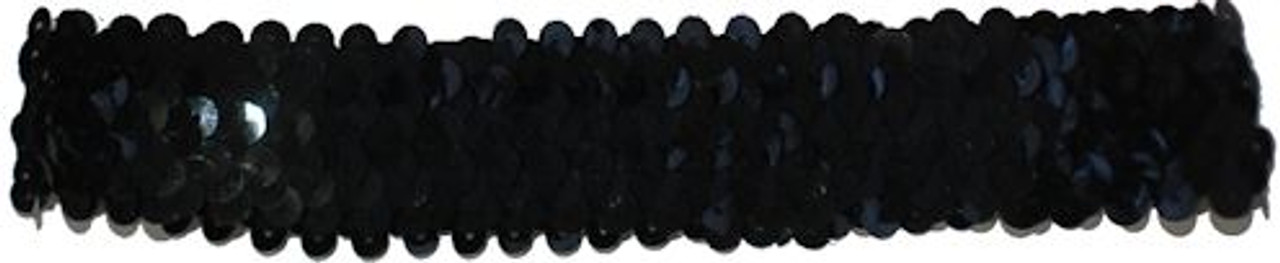 Black Sequin Stretch Headbands for dance wear. Our Headbands Shine in your hair and look spectacular. Great pricing on Dance wear.