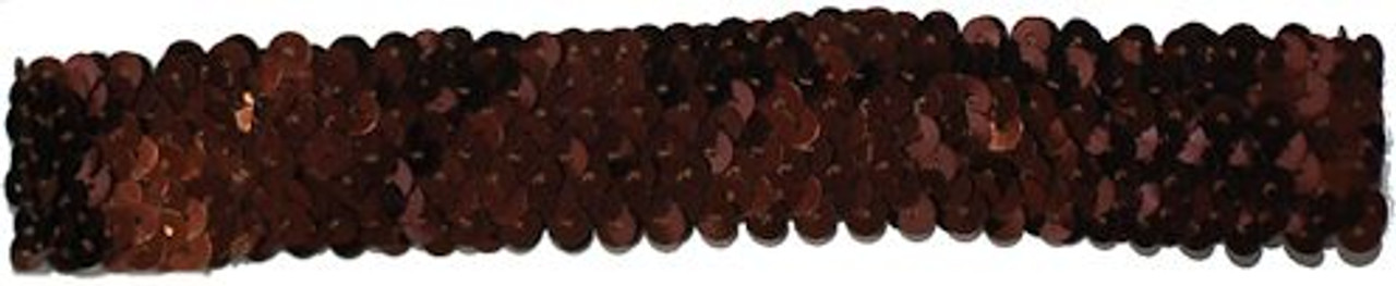 Brown Sequin Stretch Headbands for dance wear. Our Headbands Shine in your hair and look spectacular. Great pricing on Dance wear.