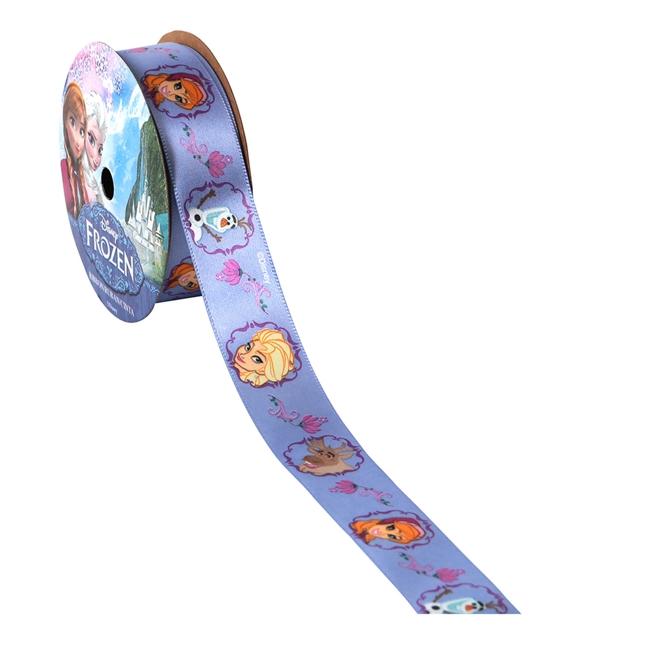 Purple - Frozen Characters Printed Ribbon