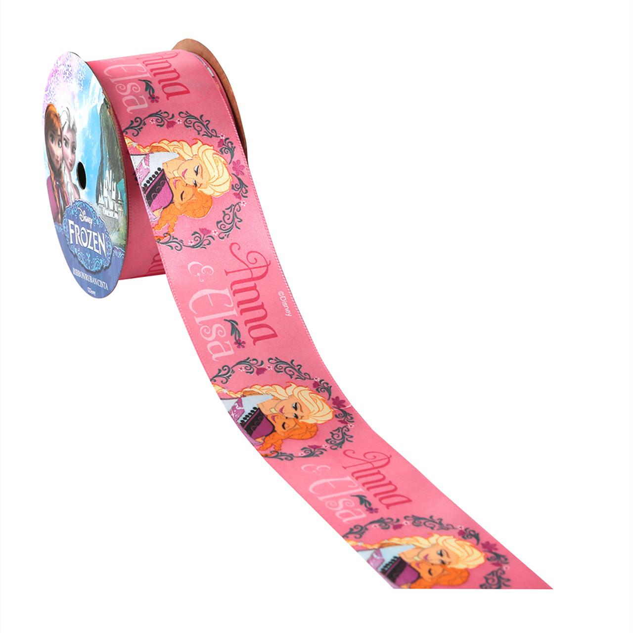 Pink - Anna / Elsa Printed Ribbon