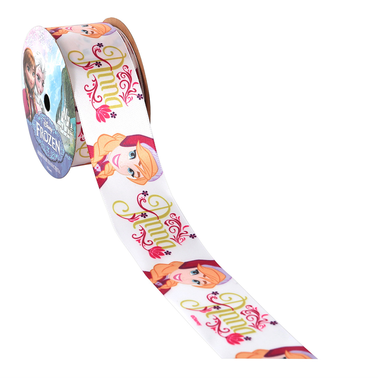 White- Anna Printed Ribbon