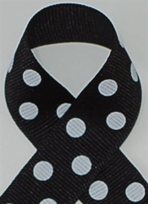 Black w/ White Polka Dots