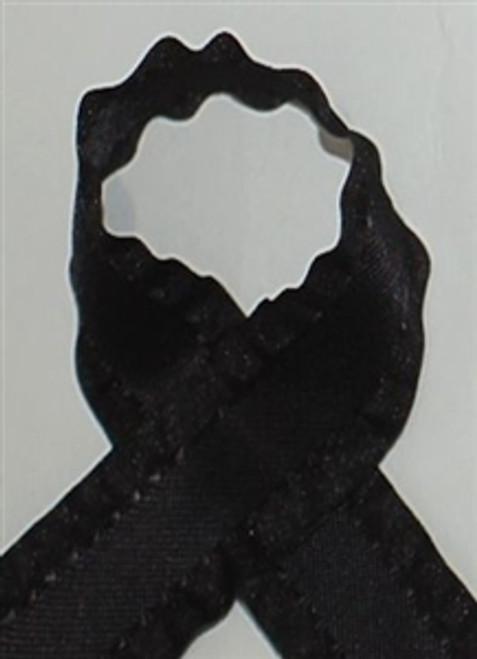 Black Ruffle Ribbon