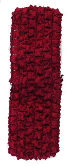 Burgundy Crochet Headband