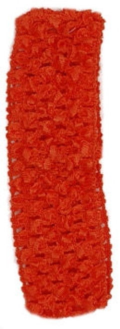 Orange Crochet Headband
