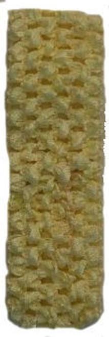 Light Yellow Crochet Headband