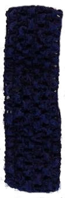 Navy Crochet Headband