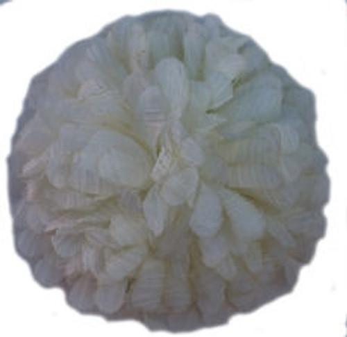 Chiffon flowers -White