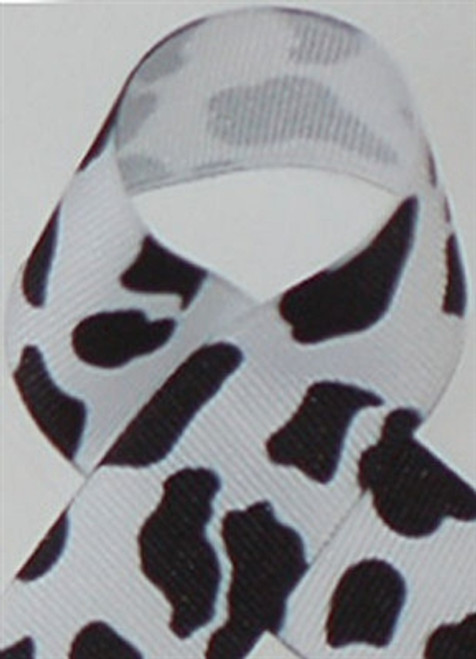 White Cow Print Ribbon