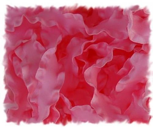 Pink Double Ruffle Ribbon