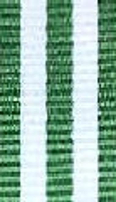 Emerald w/ White Striped Ribbon