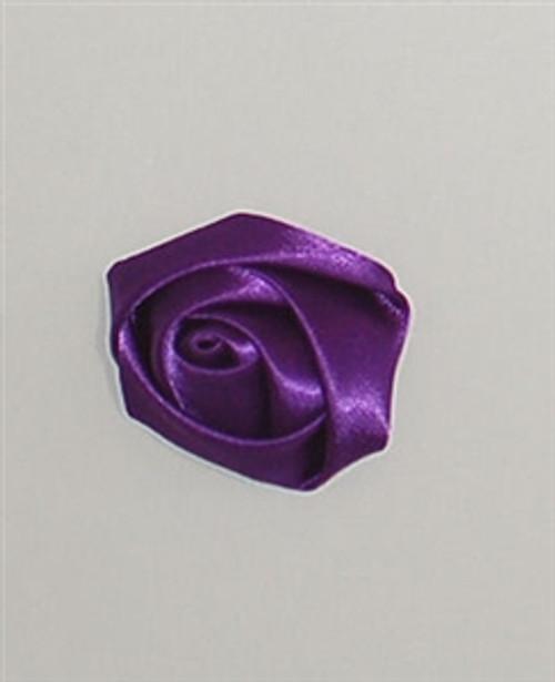 Purple Satin Ribbon Rosettes